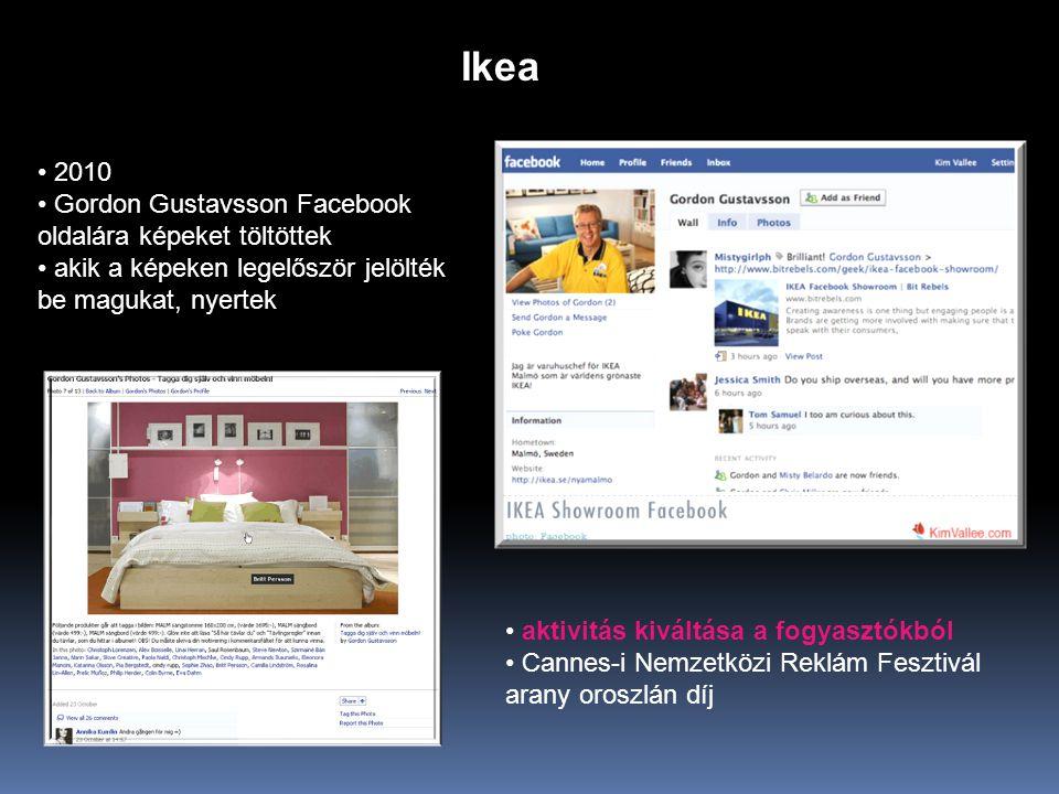Ikea 2010 Gordon Gustavsson Facebook oldalára képeket töltöttek