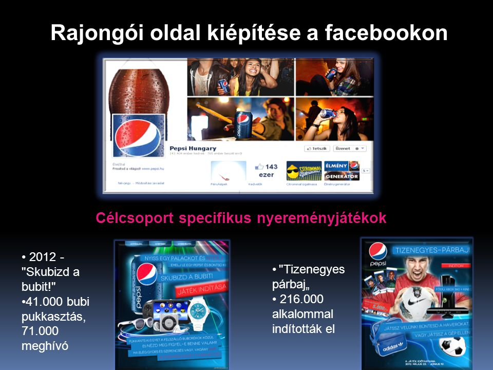 Rajongói oldal kiépítése a facebookon