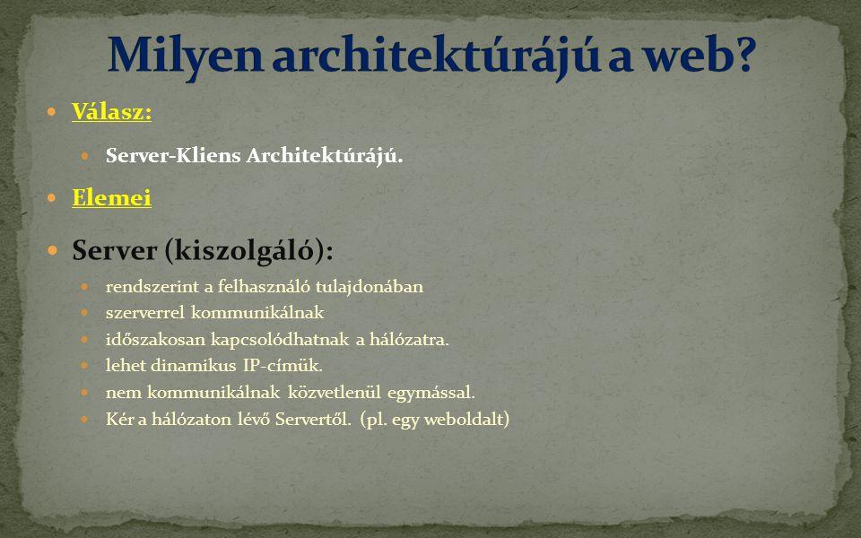 Milyen architektúrájú a web