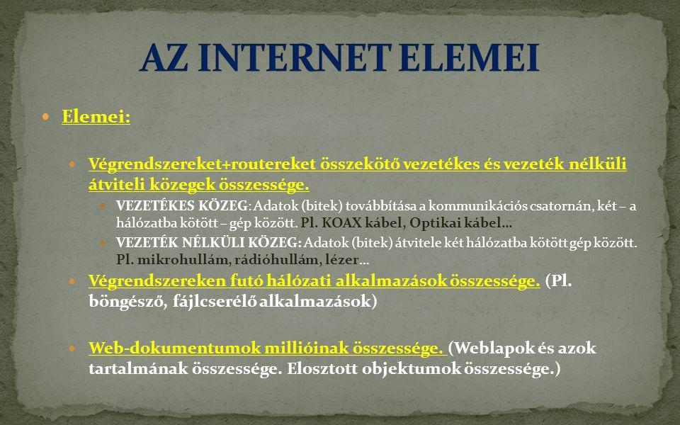 AZ INTERNET ELEMEI Elemei: