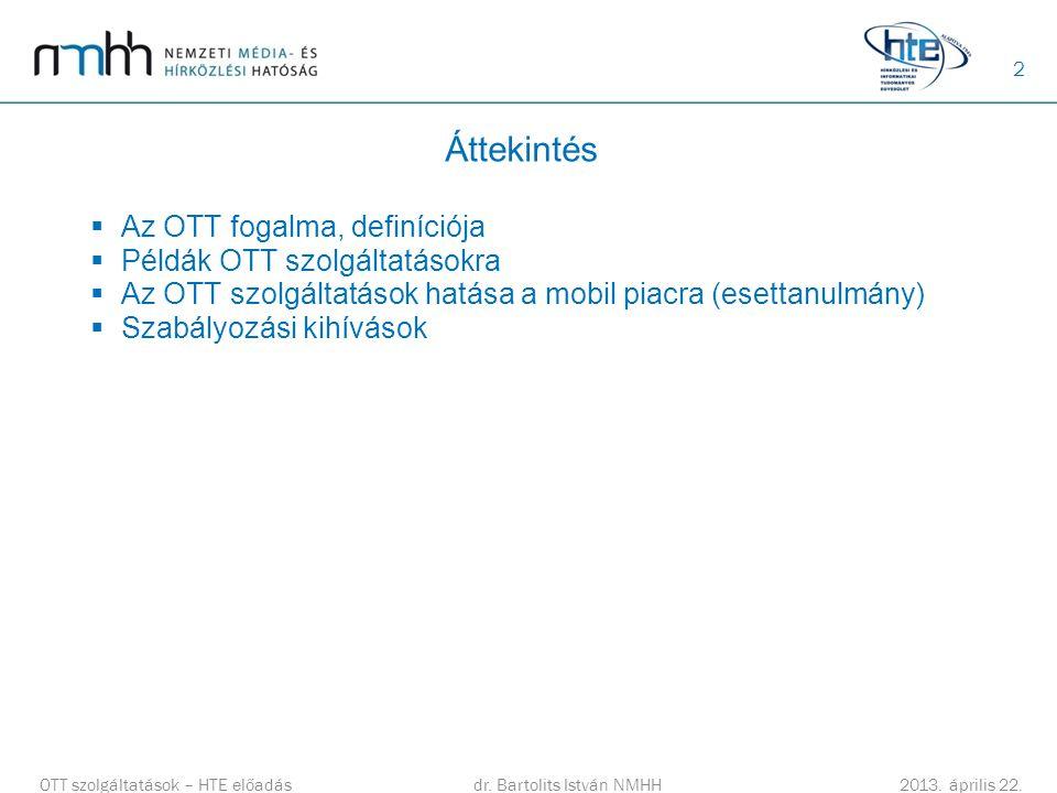 Áttekintés Az OTT fogalma, definíciója Példák OTT szolgáltatásokra
