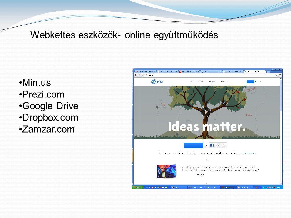 Webkettes eszközök- online együttműködés