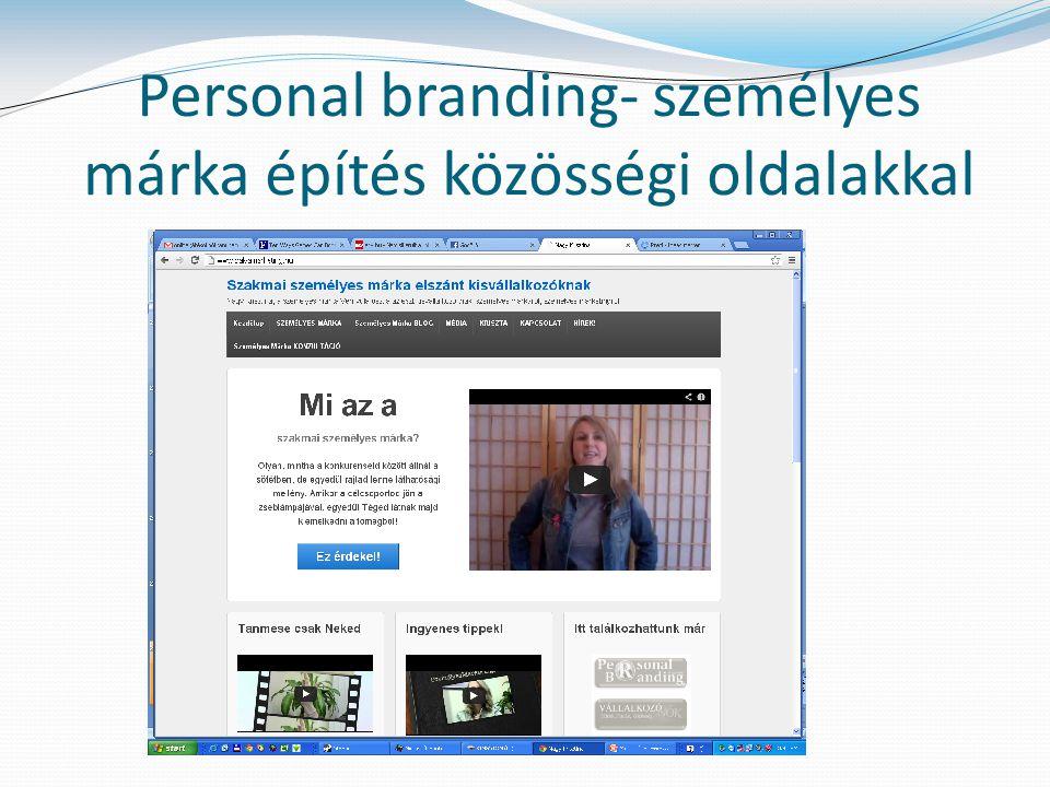 Personal branding- személyes márka építés közösségi oldalakkal