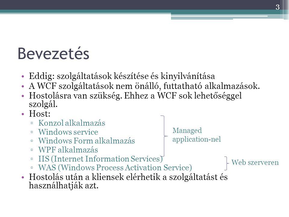 Bevezetés Eddig: szolgáltatások készítése és kinyilvánítása