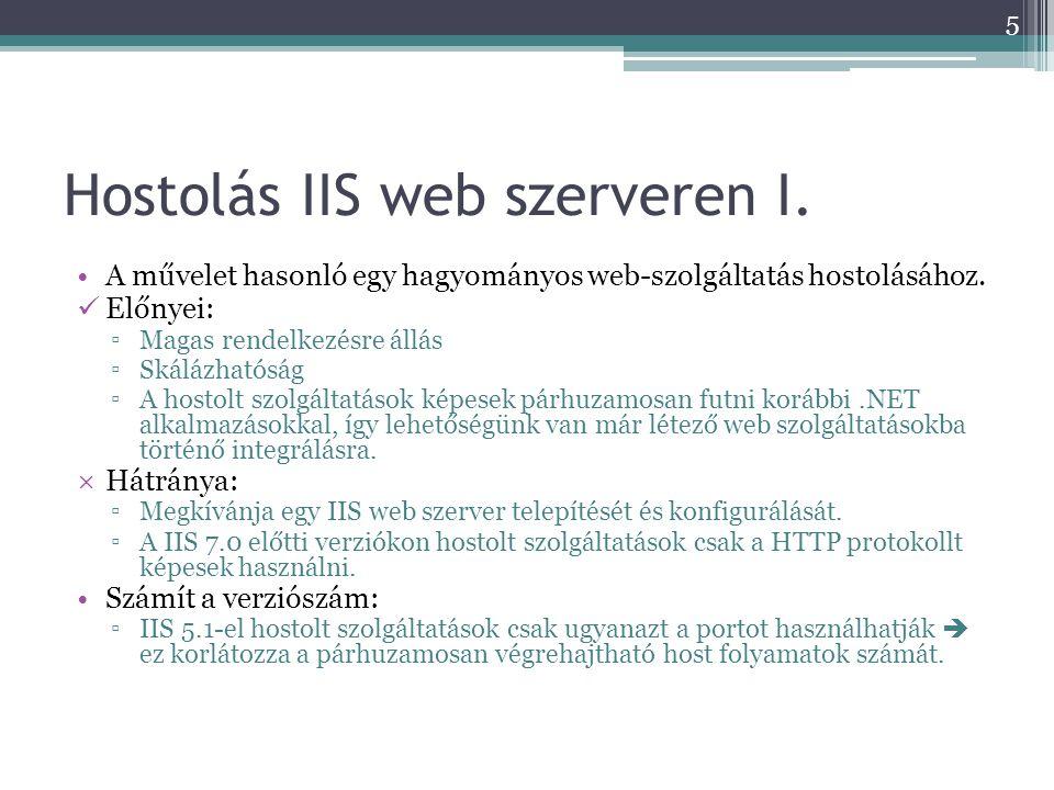 Hostolás IIS web szerveren I.