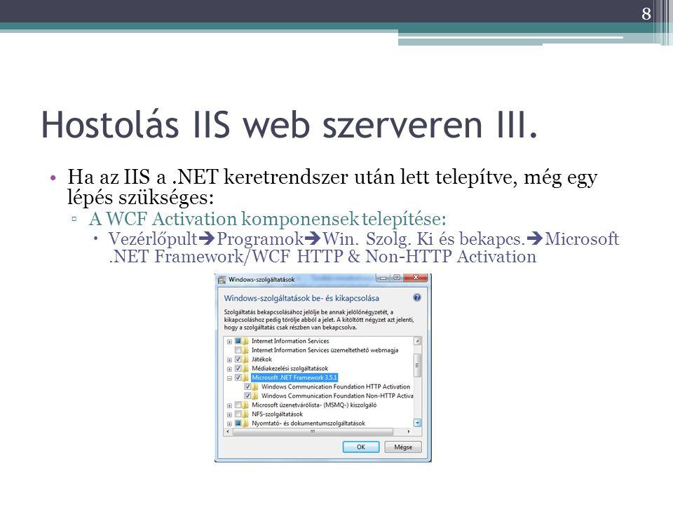 Hostolás IIS web szerveren III.