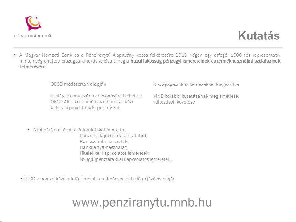 www.penziranytu.mnb.hu Kutatás