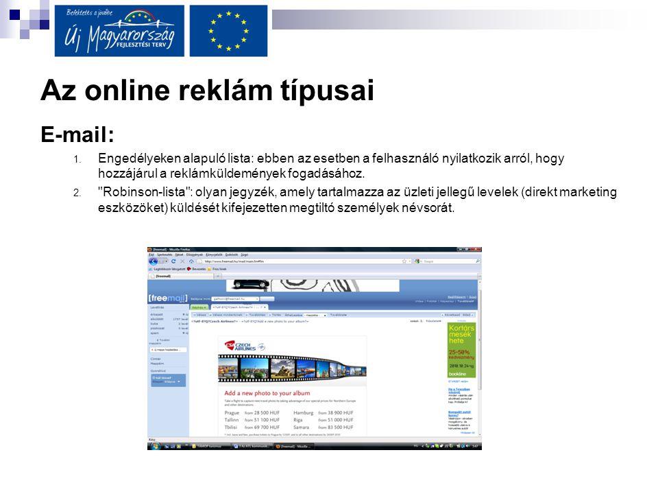 Az online reklám típusai
