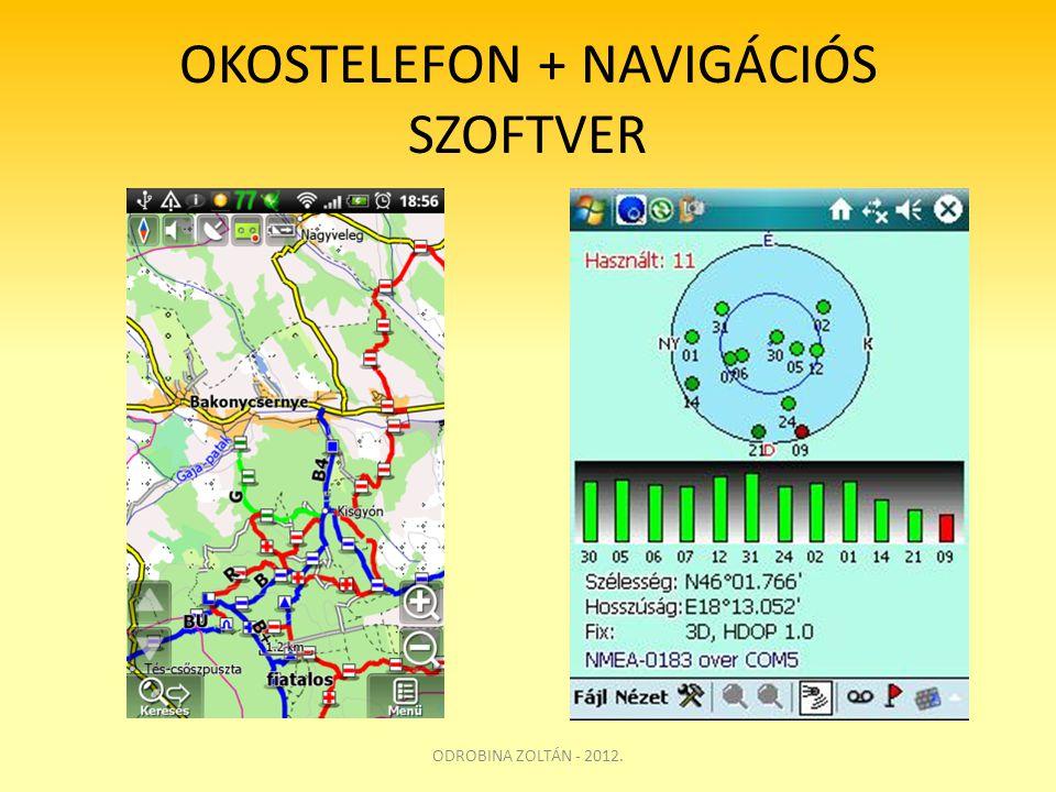 OKOSTELEFON + NAVIGÁCIÓS SZOFTVER