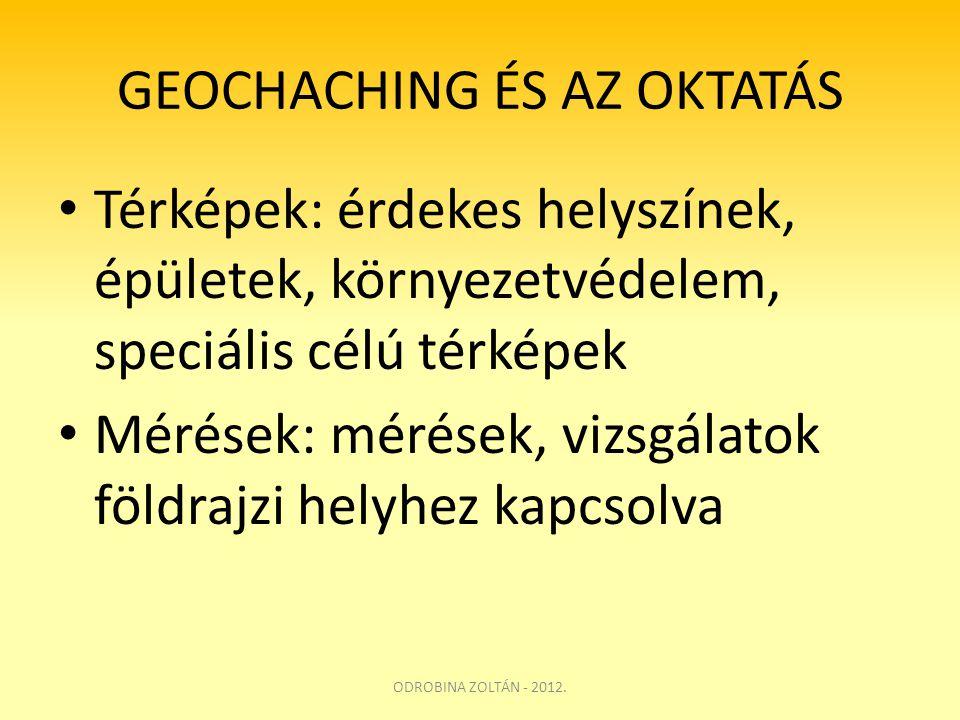 GEOCHACHING ÉS AZ OKTATÁS