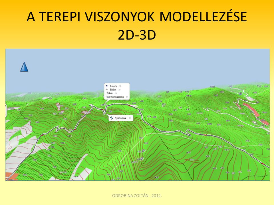 A TEREPI VISZONYOK MODELLEZÉSE 2D-3D