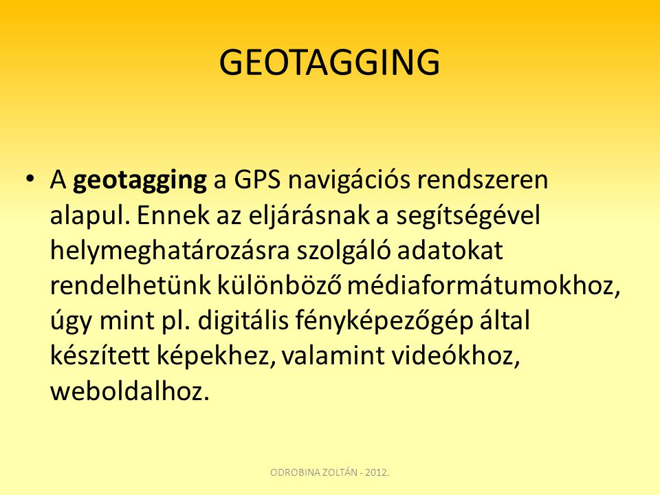 GEOTAGGING