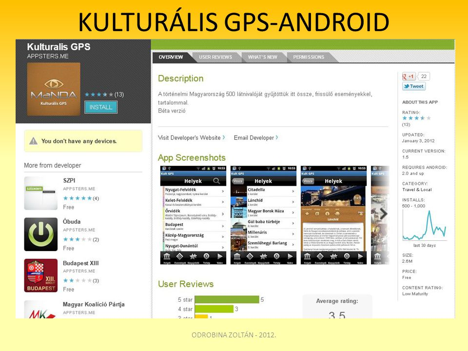 KULTURÁLIS GPS-ANDROID