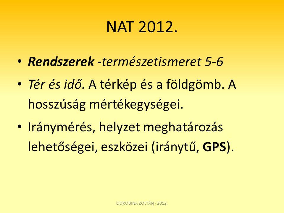 NAT 2012. Rendszerek -természetismeret 5-6
