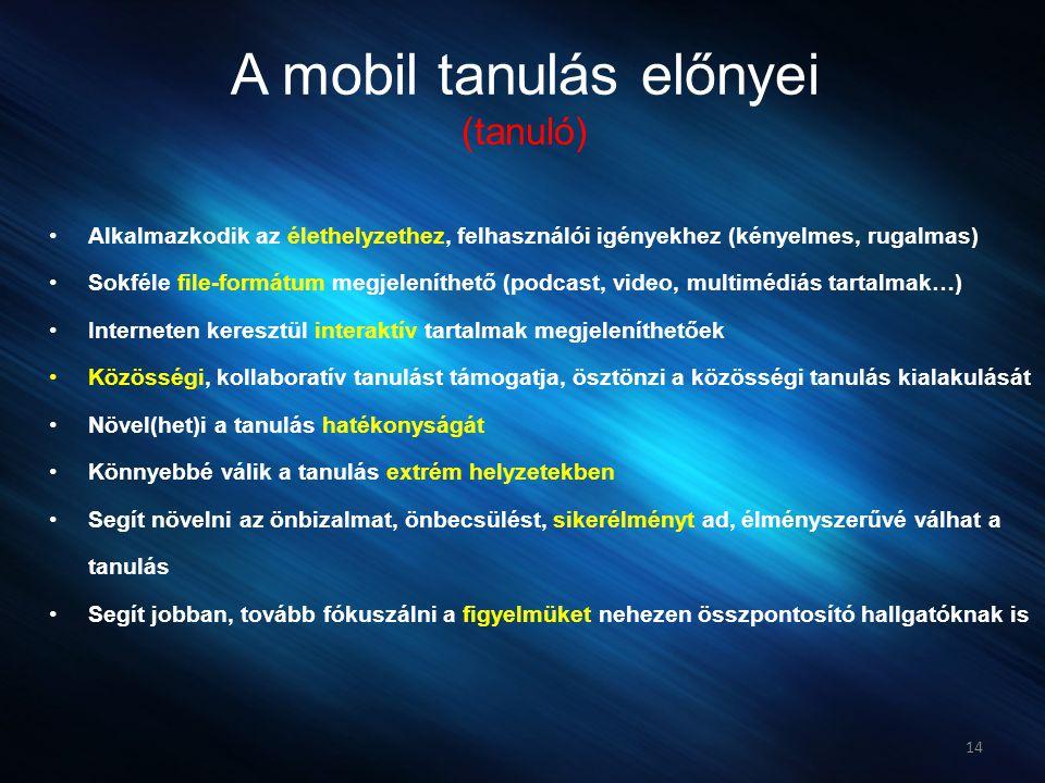 A mobil tanulás előnyei