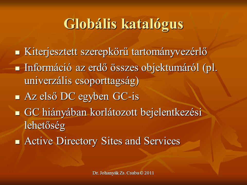 Globális katalógus Kiterjesztett szerepkörű tartományvezérlő