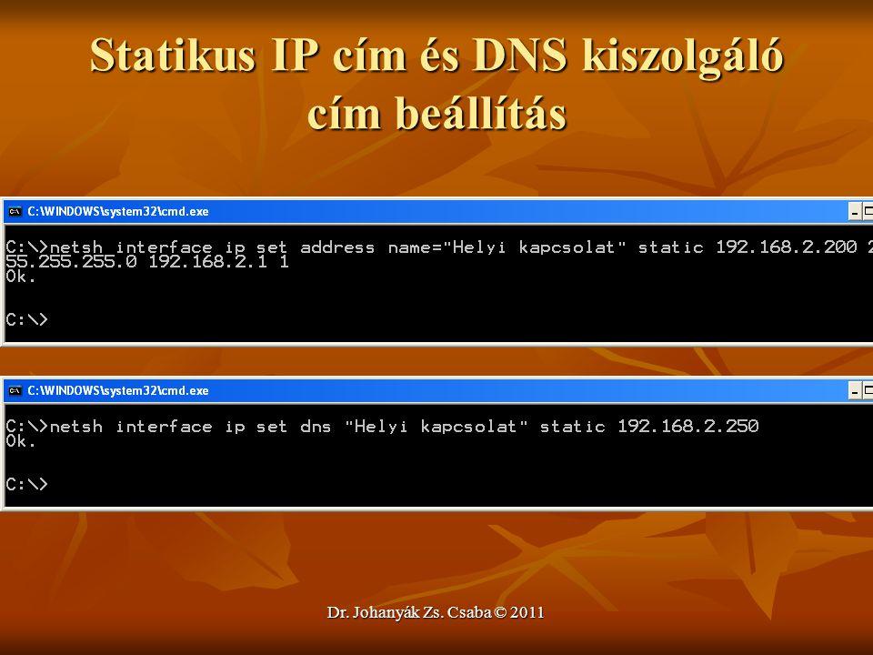 Statikus IP cím és DNS kiszolgáló cím beállítás