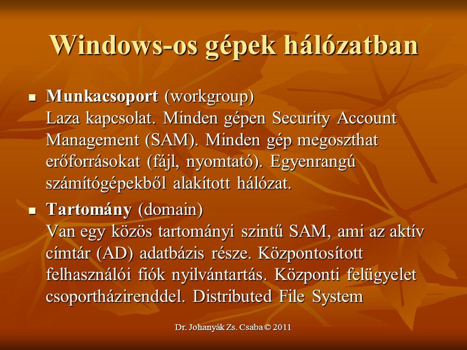 Windows-os gépek hálózatban