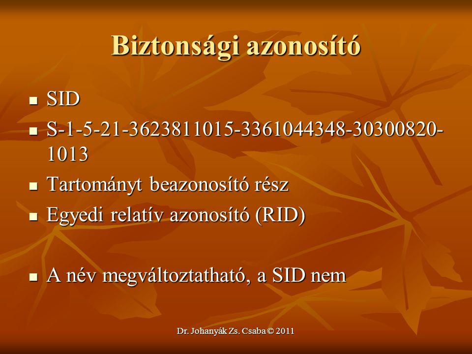 Biztonsági azonosító SID S-1-5-21-3623811015-3361044348-30300820-1013