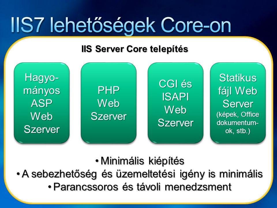 IIS7 lehetőségek Core-on