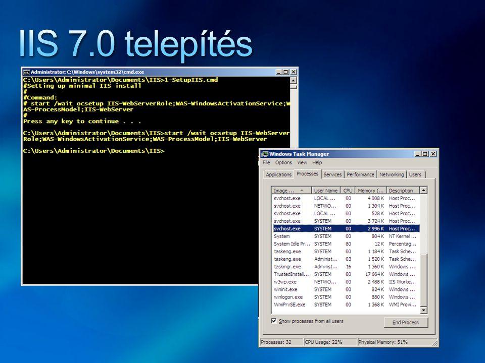 IIS 7.0 telepítés
