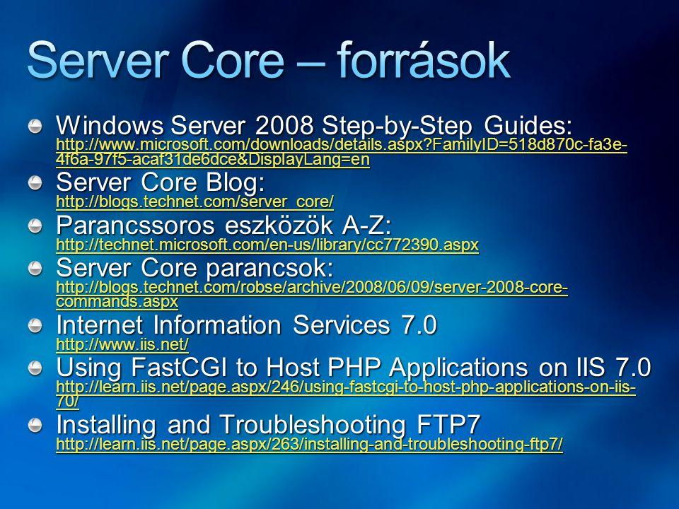Server Core – források