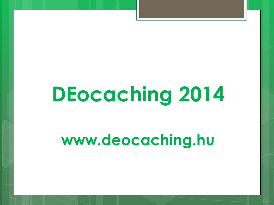 DEocaching