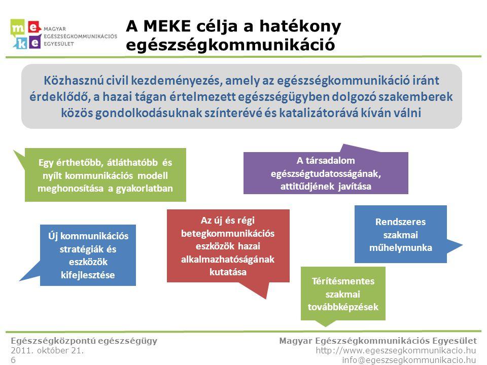 A MEKE célja a hatékony egészségkommunikáció
