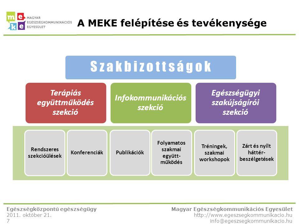 A MEKE felépítése és tevékenysége