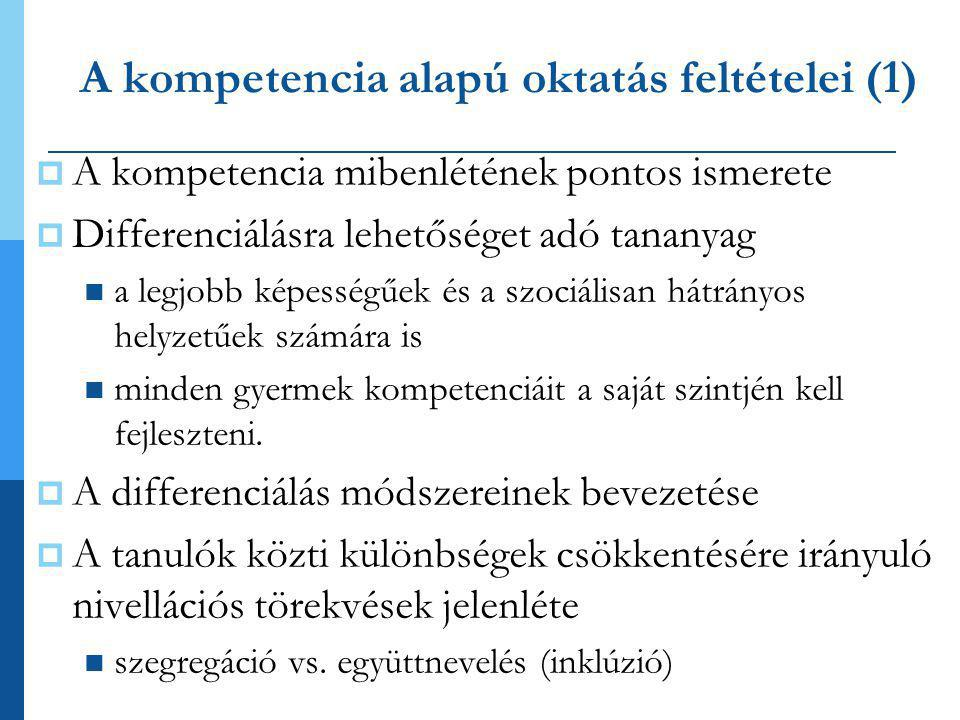 A kompetencia alapú oktatás feltételei (1)