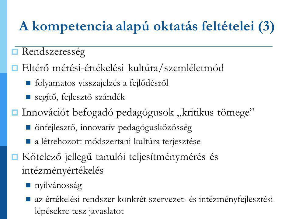 A kompetencia alapú oktatás feltételei (3)