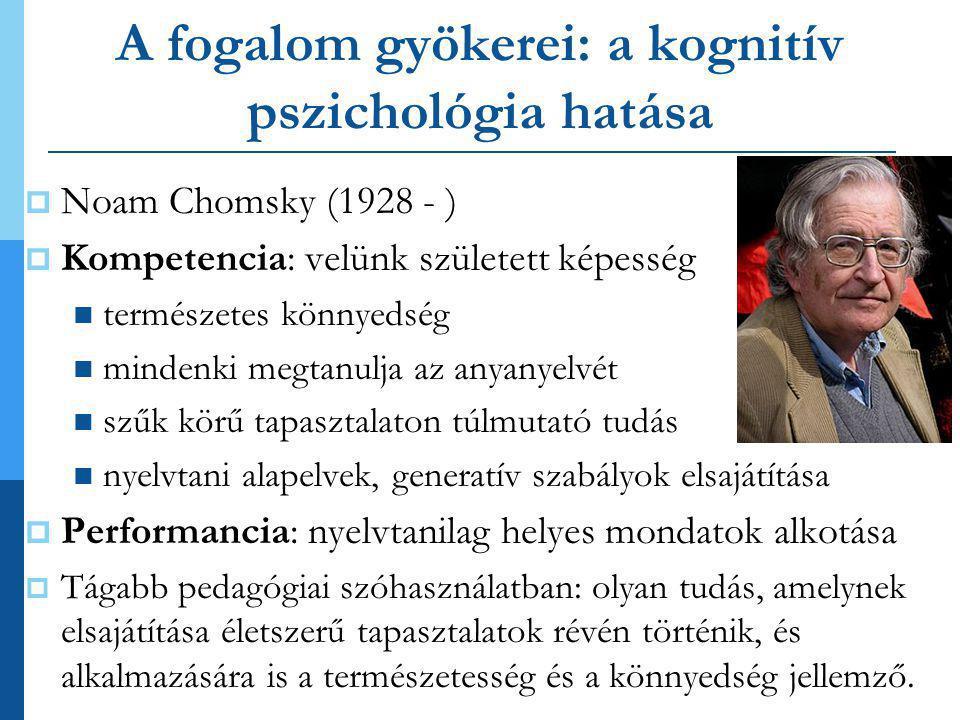 A fogalom gyökerei: a kognitív pszichológia hatása