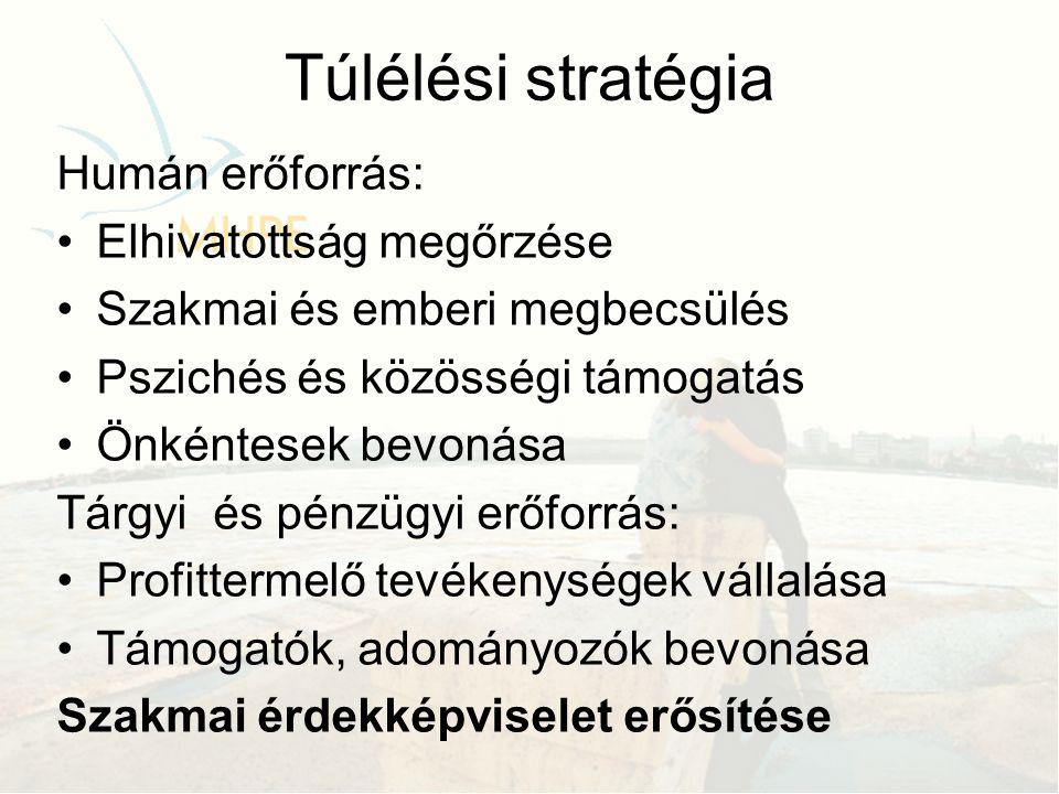 Túlélési stratégia Humán erőforrás: Elhivatottság megőrzése