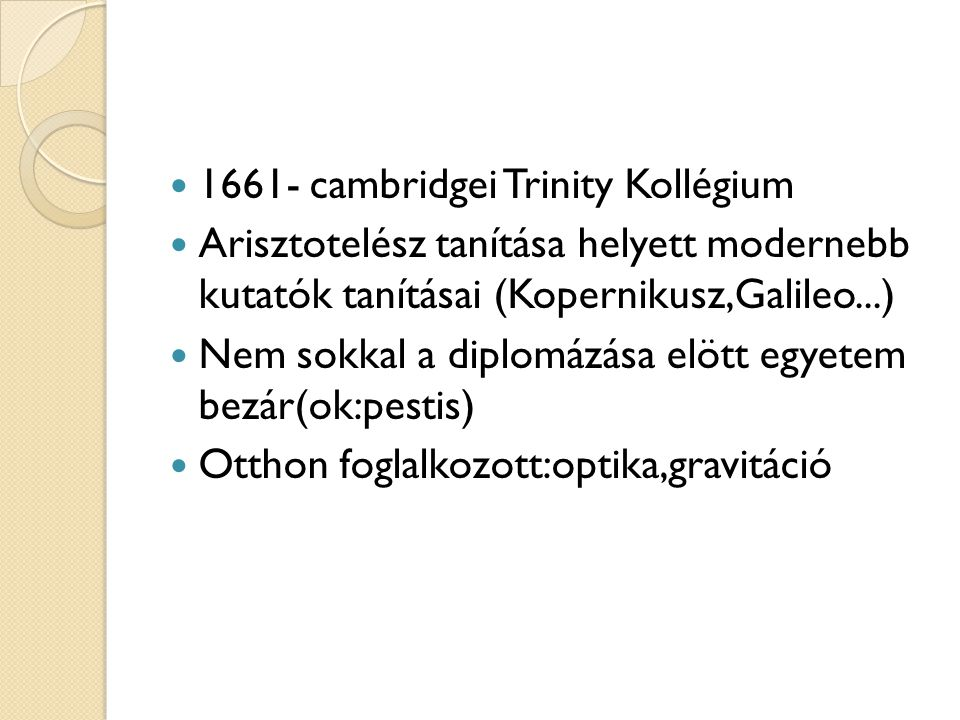1661- cambridgei Trinity Kollégium