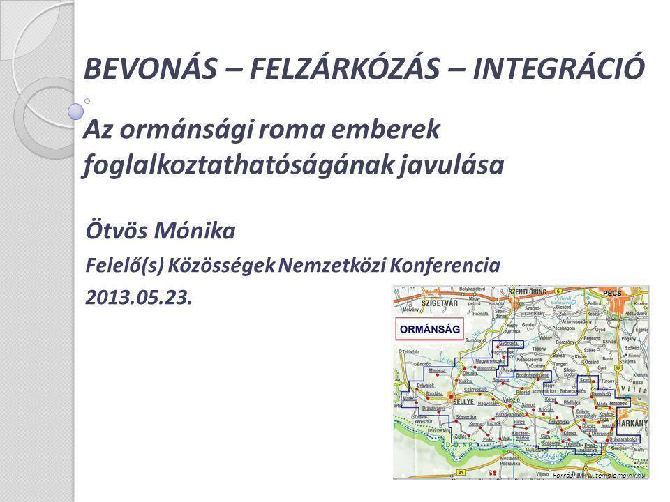 Ötvös Mónika Felelő(s) Közösségek Nemzetközi Konferencia 2013.05.23.