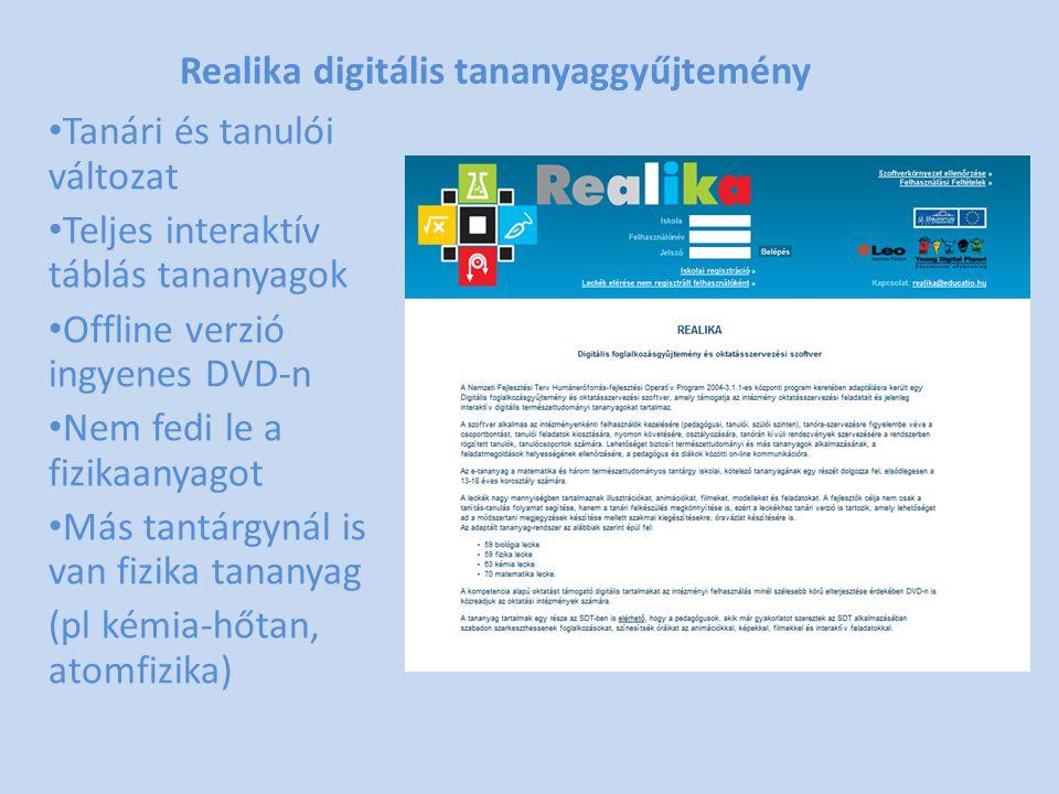 Realika digitális tananyaggyűjtemény