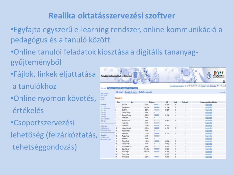 Realika oktatásszervezési szoftver
