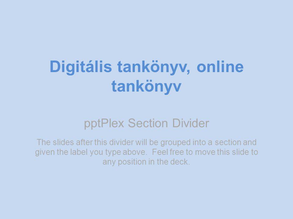 Digitális tankönyv, online tankönyv