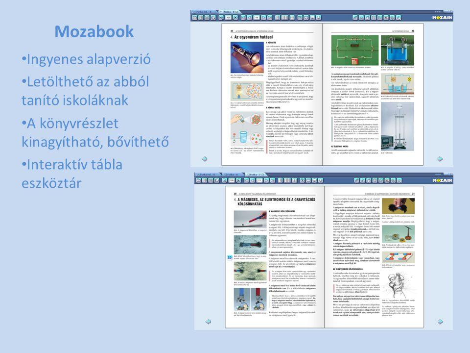 Mozabook Ingyenes alapverzió Letölthető az abból tanító iskoláknak