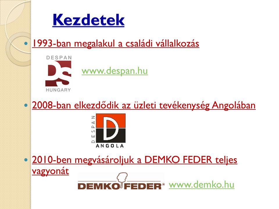 Kezdetek 1993-ban megalakul a családi vállalkozás www.despan.hu