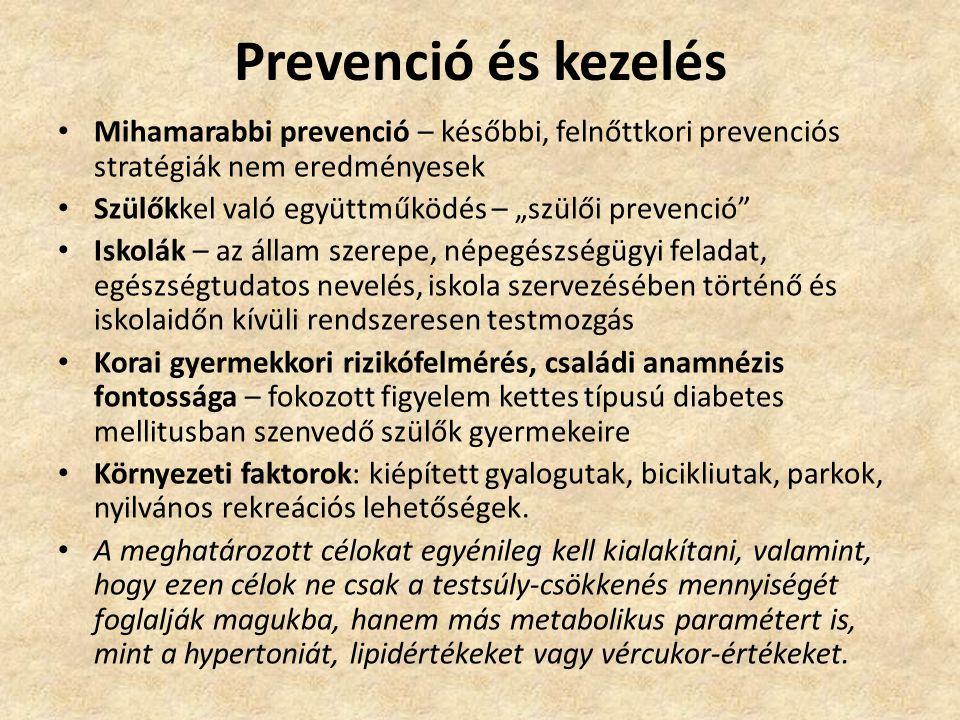 Prevenció és kezelés Mihamarabbi prevenció – későbbi, felnőttkori prevenciós stratégiák nem eredményesek.