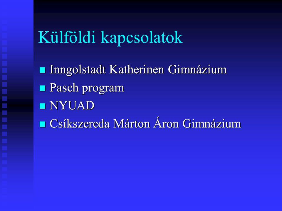 Külföldi kapcsolatok Inngolstadt Katherinen Gimnázium Pasch program