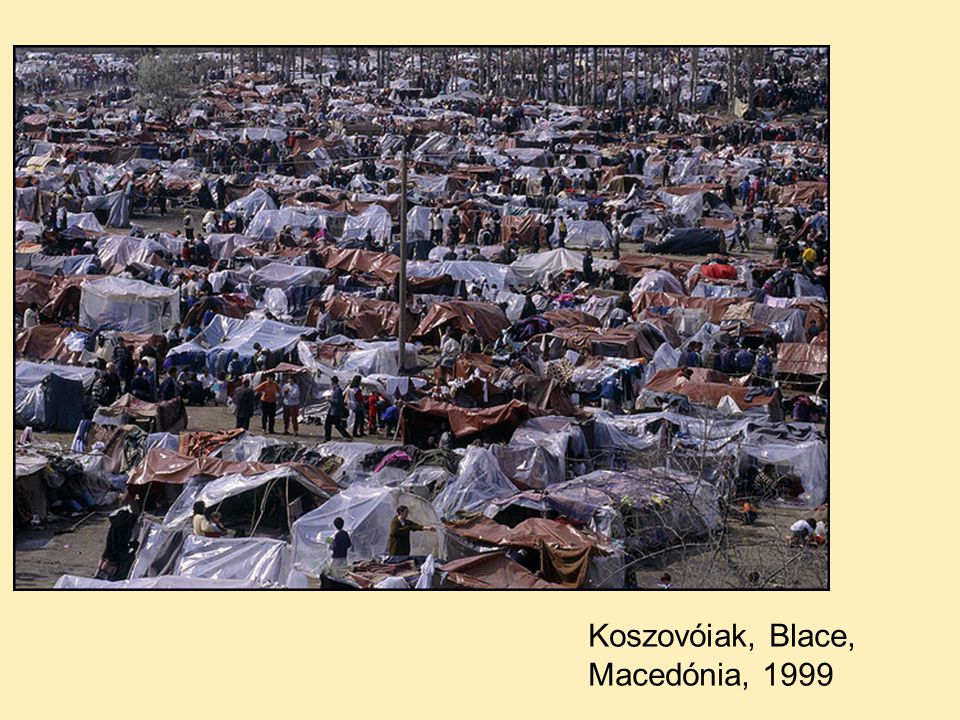 Koszovóiak, Blace, Macedónia, 1999