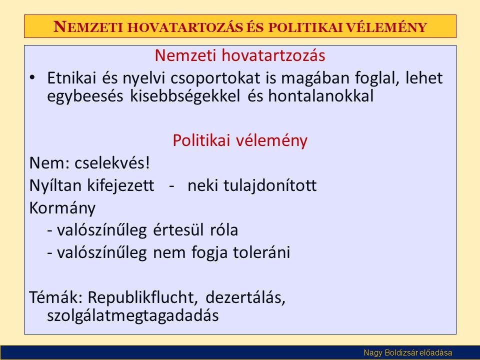 Nemzeti hovatartozás és politikai vélemény