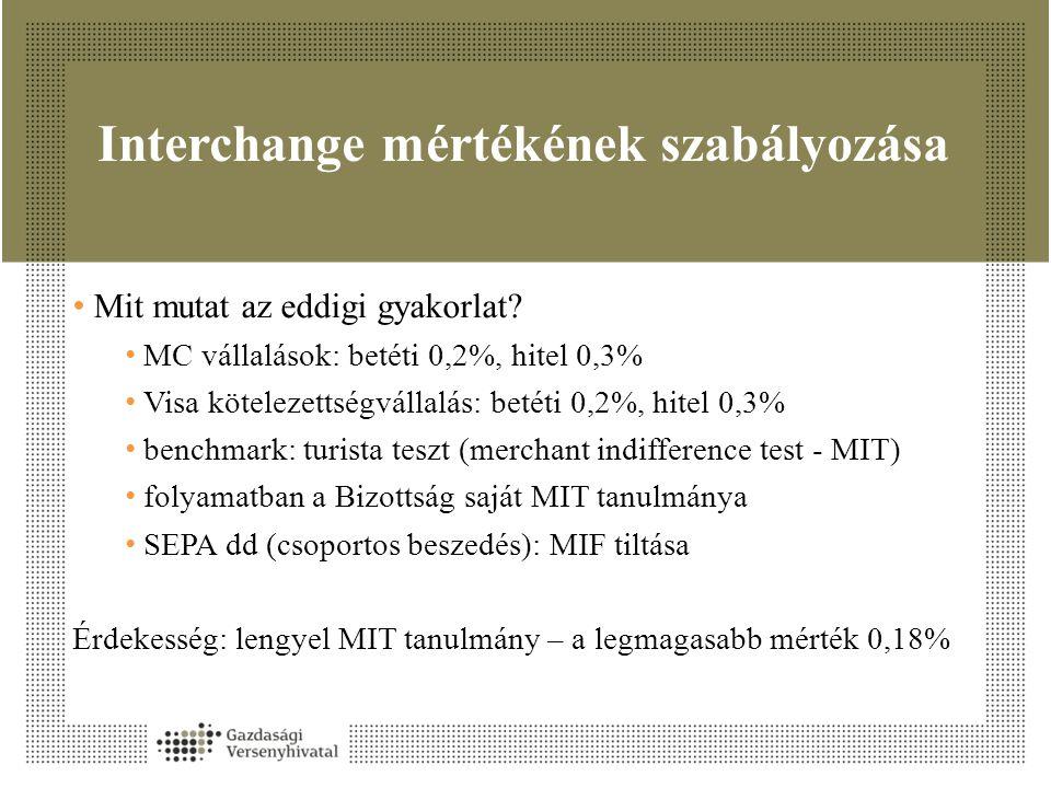 Interchange mértékének szabályozása