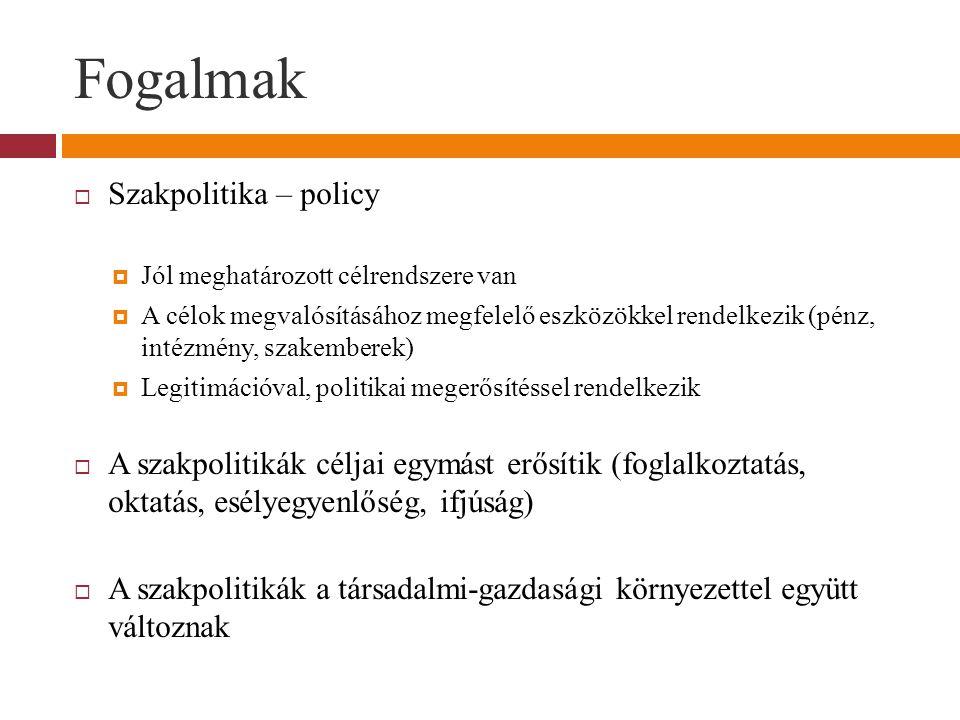 Fogalmak Szakpolitika – policy