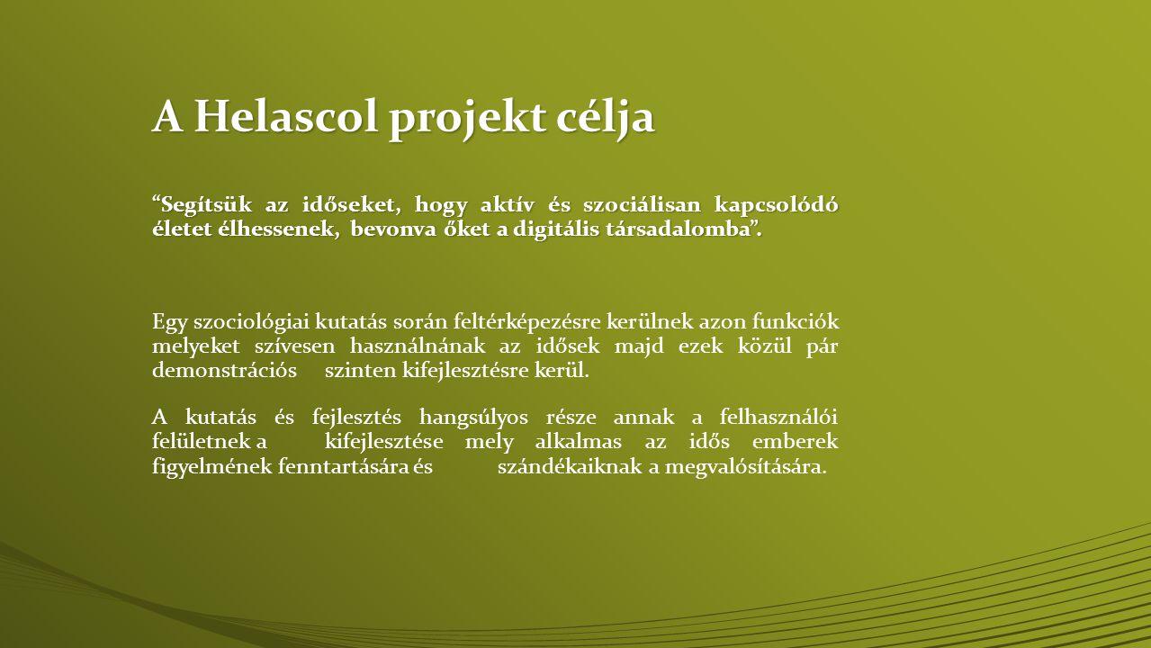 A Helascol projekt célja