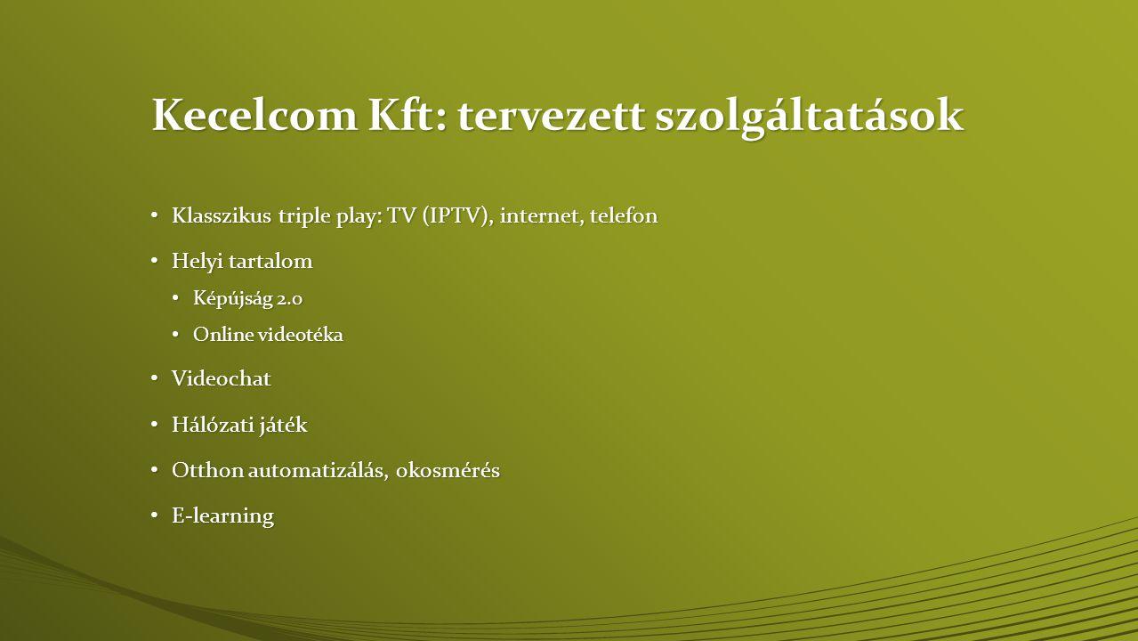 Kecelcom Kft: tervezett szolgáltatások