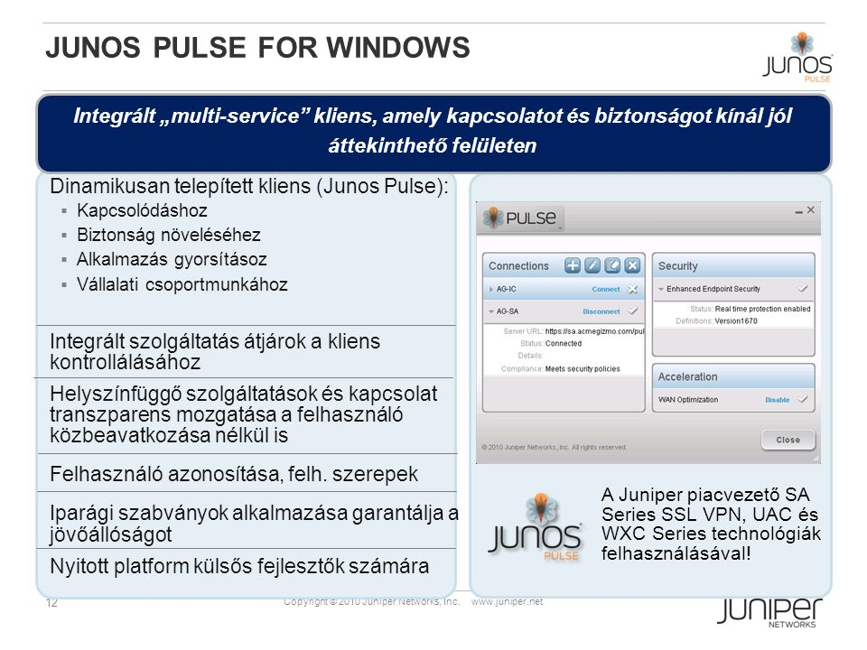 Junos PULSE for Windows