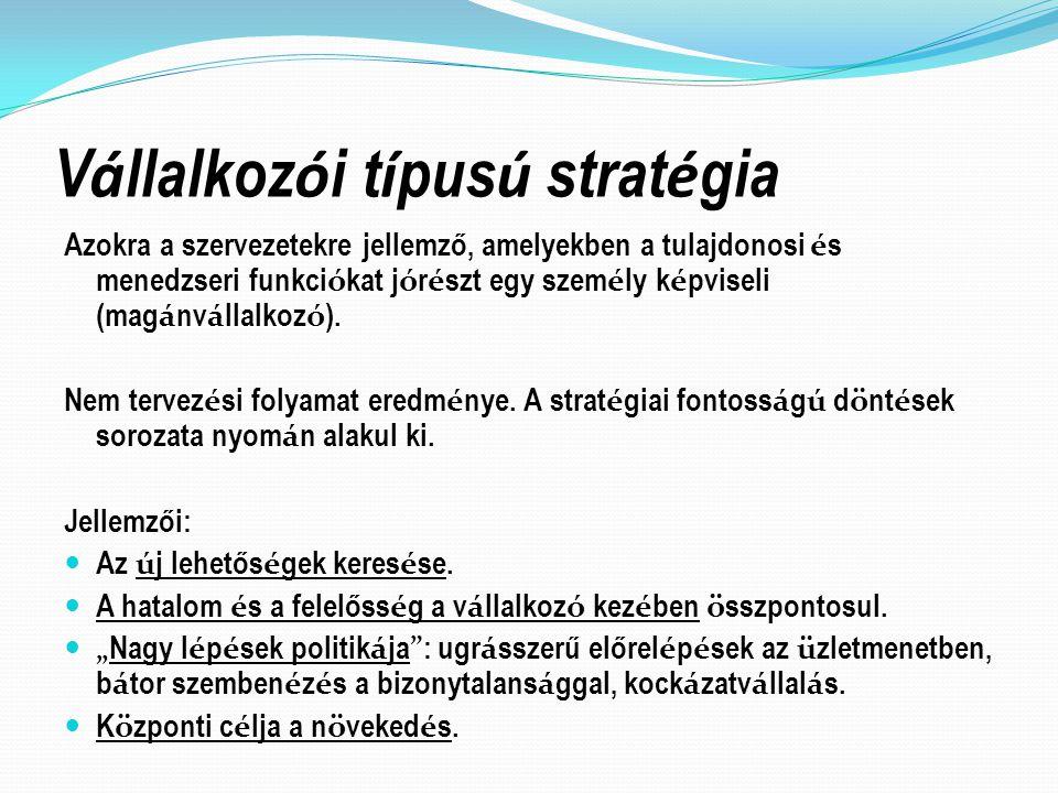 Vállalkozói típusú stratégia